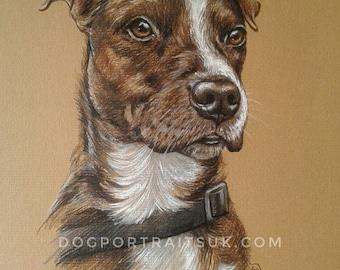 Custom Pet Portrait, Pet Portrait, Custom Painting, Watercolor Pencil Art, Gift Art, Dog Portrait