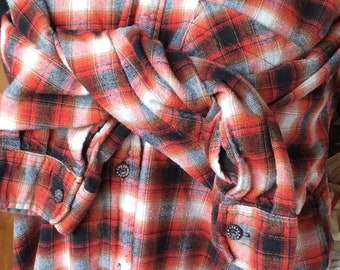 VINTAGE FLANNEL SHIRT, red plaid, moose creek, soft, classic style