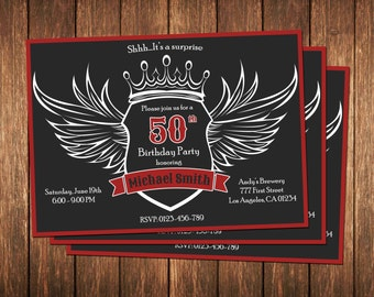 50th Birthday Invitation for Men, Aged to Perfection, Over the Hill Birthday, 30th 40th 50th 60th Birthday Invitation for Man