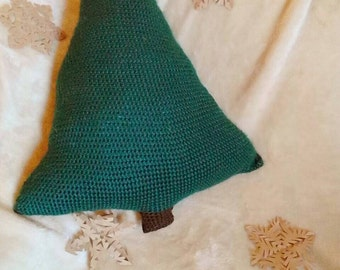 Crocheted Pine Tree Pillow