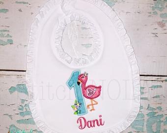 Flamingo Birthday Tee, Bodysuit, Dress, Bubble, Unisex Bubble, Ruffle Bubble, Romper, Flutter Bubble, Flamingo Alpha