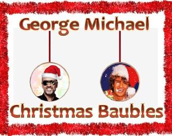 Custom George Michael Christmas Baubles,Decorations,Xmas Gift,Last Christmas, Wham