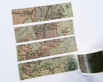 Design Washi tape world map Europe Sweden masking tape