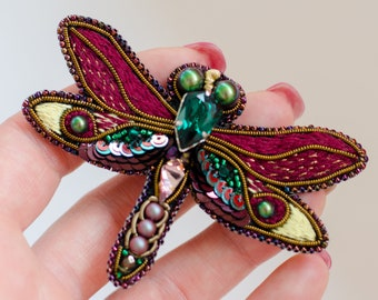 Dragonfly brooch, Dragonfly pin, Dragonfly jewelry, Dragonfly gift