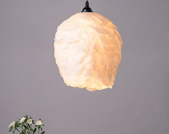 Pendant light,Paper Lamp, Ceiling White Romantic Lamp, Ceiling Hanging Light, Soft Light Fixture