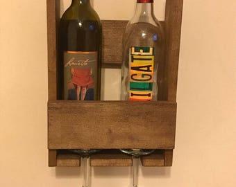 Reclaimed Wood Rustic Pallet Wine Rack