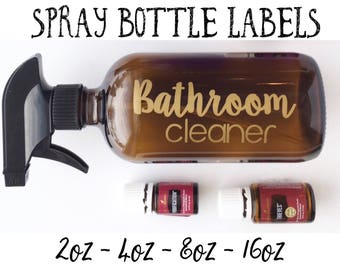 Essential Oil Spray Bottle Labels - Household Labels - Cleaning Labels - CUSTOMIZABLE -  LABELS ONLY -