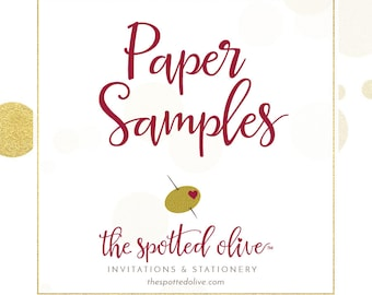 The Spotted Olive Paper Samples and Paper Samples