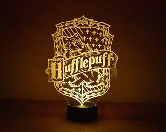 Harry Potter Inspired Hufflepuff LED Lamp