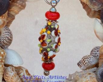"""""""lampwork"""" nail 2 Lampwork bead pendant"""