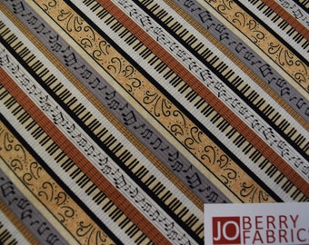 Music themed fabric from the Classically Trained Collection by Debbie Mumm for Wilmington Prints.  Quilt or Craft Fabric, Fabric by the Yard