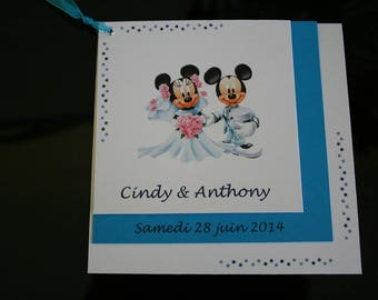 Invitation Theme wedding brides mouse