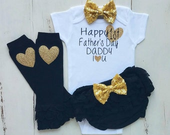 Fathers Day gift, First Fathers Day Outfit, Baby girl clothes, Onesie, Baby girl, Baby clothes, Baby, Baby girl onesie, Onesies,Baby onesies