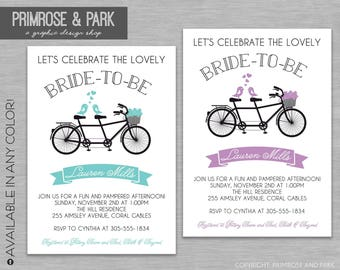 Tandem bike invite etsy double bicycle bridal shower invitations retro bicycle invitation printed invitations invitation download filmwisefo Choice Image