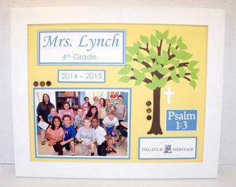 Personalized Teacher Gift - Class Photo Picture Frame 11x14 Frame Included Any Theme - Match Your Classroom