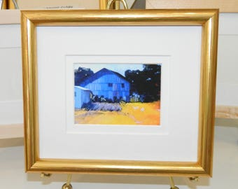 ACEO Frames - Gold Wood Frame with Double Mat w/easel back