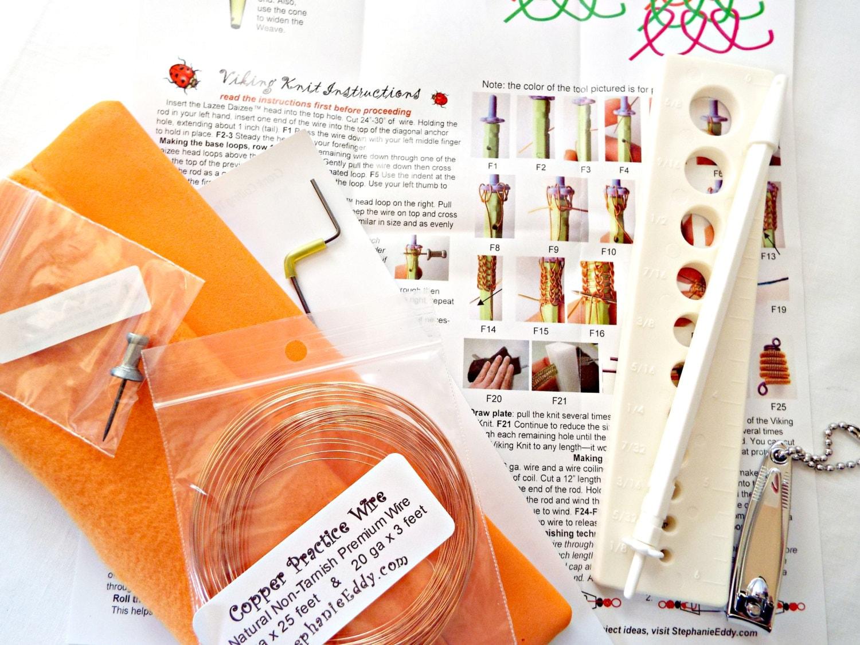Lazee Daizee Kit, Viking Knit, Wire Weaving Kit, Weaving Tool Kit ...