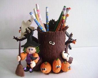 Halloween Decoration Pencil Holder Straw Holder Kids Gifts for Halloween Made to Order