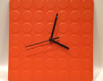 Block Clock Orange