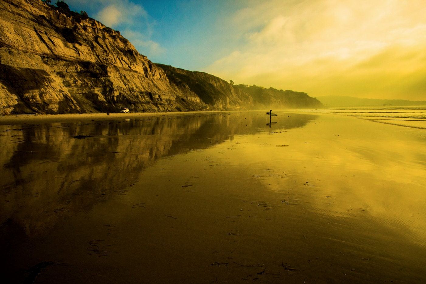 Sunset at Black\'s Beach 12x18 16x24 20x30 24x36 Metal