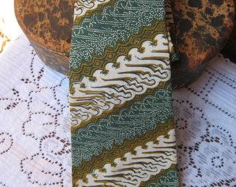 Batik Cotton necktie- Rama Sintu-REDUCED from 15.00