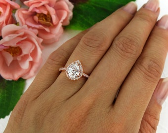 pear benzdiamonds shaped halo double rings products ring engagement wedding diamond ct