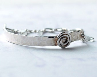 Cuff bracelet. Silver Chain Bracelet. Fine jewelry. Luxury Jewelry Gift. Artist Modern Gypsy Jewelry. Calder Inspired. Statement Bracelet