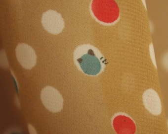 Spotted Motif Print Georgette Fabric - 58 Inches Wide