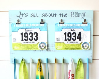Running Race Bib and Medal Holder - It's all about the Bling!
