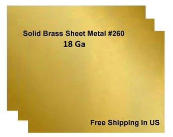 18 Ga Solid Brass Sheet Metal / One Side Is Covered With PVC To Prevent Scratch