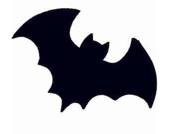 Bat Silhouette Machine Embroidery Design - 6 Sizes - Instant Download Design