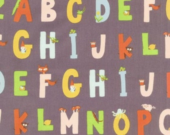 Windham - Kinder by Heather Ross - Alphabet - Purple