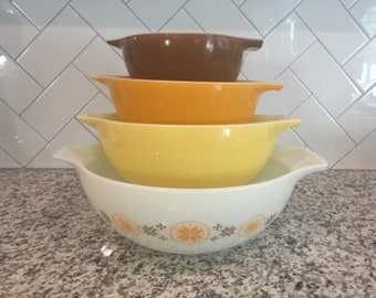 Pyrex Town and Country Cinderella Nesting Bowls (full set)