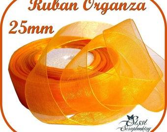 2M wide 25mm sewing SCRAPBOOKING SCRAPBOOKING Golden ORANGE ORGANZA Ribbon card knots