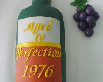 Edible WINE or LIQUOR Bottle Cake Decoration