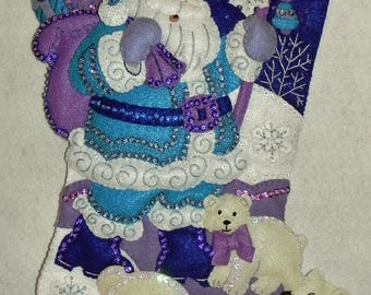 Arctic Santa Bucilla Completed 18 Inch Stocking