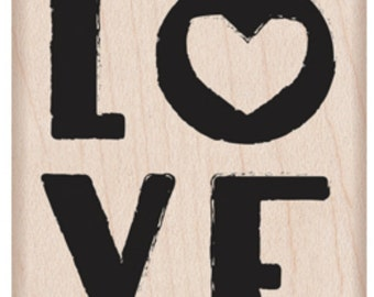 SALE Hero Arts Love Little Heart G6124 wood stamp valentine; wedding; anniversary; paper crafting; stamping