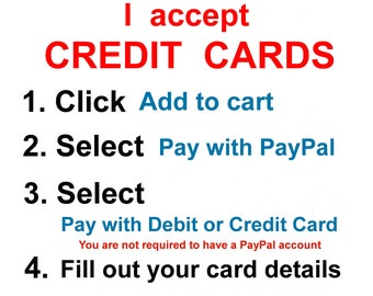 I accept Credit Cards