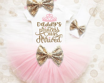 Baby Girl Coming Home Outfit | Baby Shower Gift | Princess Baby Shower | Newborn Girl Coming Home Outfit | Daddy's Princess Has Arrived