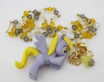 My Little Pony Bubbles/Derpy Hooves/Muffin Swarovski Crystal kawaii necklace pony cosplay jewelry