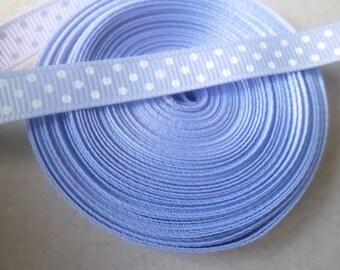 x 2 yards lilac striped 10 mm polyester grosgrain Ribbon
