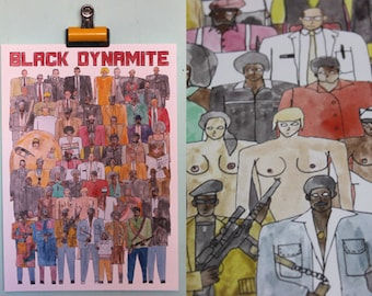 Black Dynamite Team Illustration