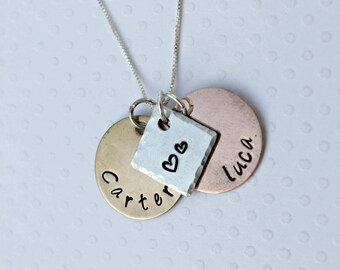 Mothers Necklace 2 Name Necklace Grandmothers Necklace Mom Necklace Childrens Names Necklace Couples Necklace Two Name Necklace
