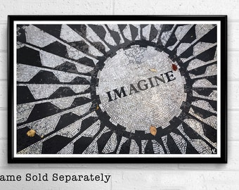 Strawberry Fields Imagine Pop Art Print New York City Poster NYC Landmark American United States Fine Art Travel Home Decor Canvas