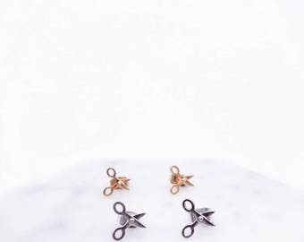 Scissors earrings; stud earrings; scissors accessories; simple; minimalist earrings; cute earrings; fun