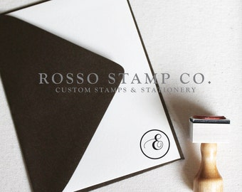 Monogram Stamp, Wedding Monogram Stamp, Custom Stamp - Style No. 11