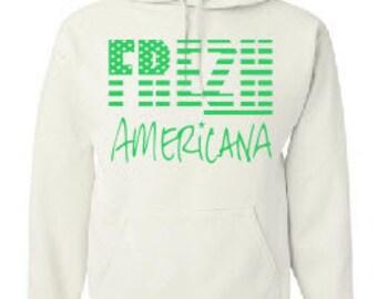 Frezh Americana White/Green Hoodie