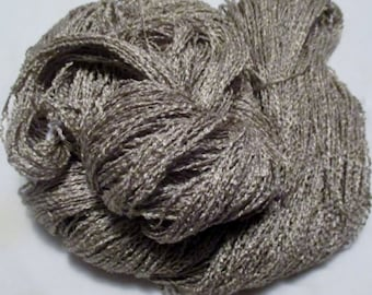 Handpainted Yarn-Soft Rayon Boucle Sport Wt. - 360 yds - TAUPE