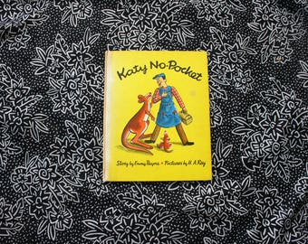 Katy No Pocket By Emmy Payne. 1944 Vintage Weekly Reader Book Club First Edition Hardcover Illustrated By HA Rey Childrens Picture Book