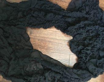 Black Fluffy Scarf